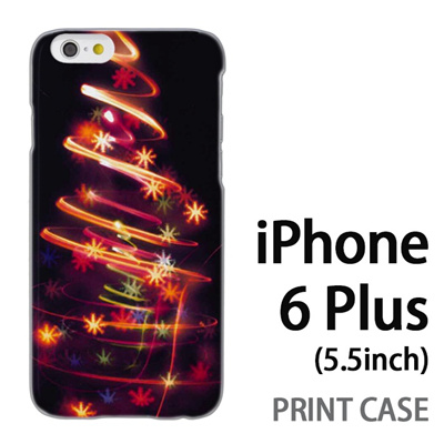 iPhone6 Plus (5.5インチ) 用『1223 花飾りツリー ゴールド』特殊印刷ケース【 iphone6 plus iphone アイフォン アイフォン6 プラス au docomo softbank Apple ケース プリント カバー スマホケース スマホカバー 】の画像