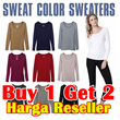 [Buy1Get2]Basic Womens Long Sleeve Tee and Comfy Sweater_Good Quality_Dijamin Puas!! Kaos Wanita Lengan Panjang / Tshirt / Blouse / Sweater / cardigan