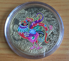 2017 Chinese New Year Rooster Gold Coin With Red Packet [Great Gift For Family Client Colleagues And Friends]