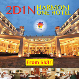 2D1N Harmoni One Hotel Tour Package (MIN 2PAXS)