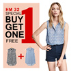 Get 2 Pcs Shirt [HM 32] CAN SELECT THE COLOUR AND SIZE FREE! Sleeveless BLOUSE! LIMITED STOCK!