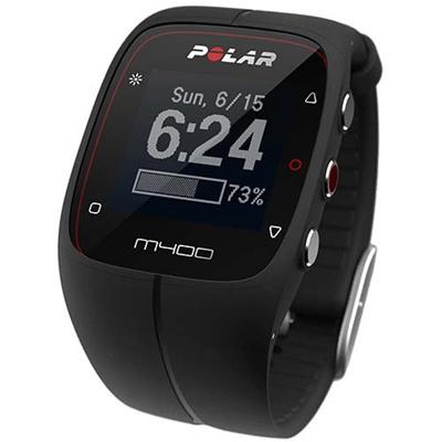 ◆即納◆ポラール(polar) M400 ブラック (心拍センサーなし) 90051091 ブラック 【ランニングウォッチ 腕時計 心拍計 活動量計 国内正規品】の画像