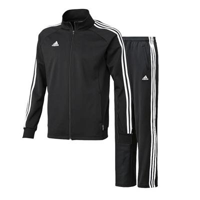 アディダス (adidas) ESS 3S ウォームアップジャケット&パンツ上下セット(ブラック) DDU45-F94501-DDT93-F94504 [分類:ジャージ 上下セット (メンズ・ユニセックス)] 送料無料の画像