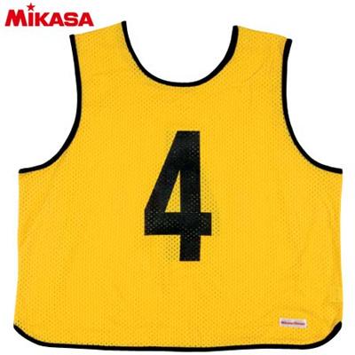 MIKASA(ミカサ) ゲームジャケット ラージサイズ (1~15番) GJL2-Y 【ビブス ゲームベスト 試合 練習用品】の画像