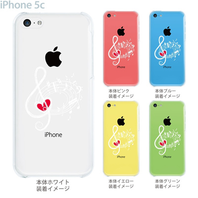 【iPhone5c】【iPhone5c ケース】【iPhone5c カバー】【ケース】【カバー】【スマホケース】【クリアケース】【ミュージック】【音符】 09-ip5c-mu0007の画像