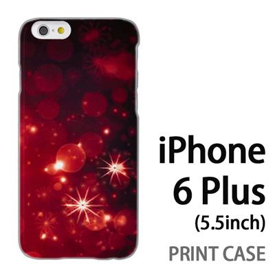 iPhone6 Plus (5.5インチ) 用『1223 雪ネオン 赤』特殊印刷ケース【 iphone6 plus iphone アイフォン アイフォン6 プラス au docomo softbank Apple ケース プリント カバー スマホケース スマホカバー 】の画像