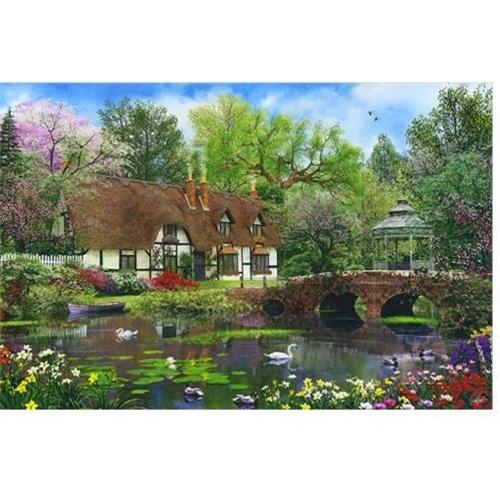 Qoo10 appleone jigsaw puzzle dominic davison swan pond for Garden pool crossword