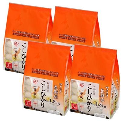 お米 新潟県産 コシヒカリ 7.2kg(1.8kg×4個入り) (一等米100%)の画像
