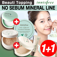 [Innisfree] ★ 1 + 1 ★ Steady Seller HOT DEAL ★ No Sebum Mineral and Blur Powder / Pact / Primer