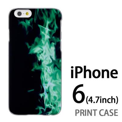 iPhone6 (4.7インチ) 用『No4 緑煙』特殊印刷ケース【 iphone6 iphone アイフォン アイフォン6 au docomo softbank Apple ケース プリント カバー スマホケース スマホカバー 】の画像