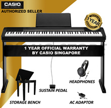Top Seller - Beginner Casio CDP-135 Digital Piano 88 Weighted Keys / Free 30 mins Piano lesson