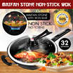 [FREE GIFT] 32CM Korea Maifan stone non-stick wok / oil-free / induction cooker