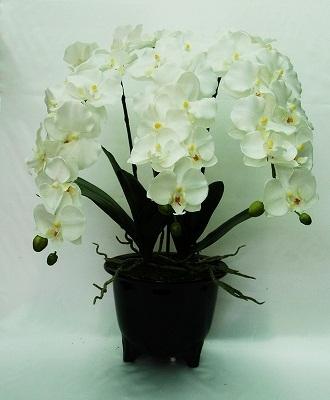 ●代引き不可送料無料造花 胡蝶蘭 ポット3本立て93514の画像