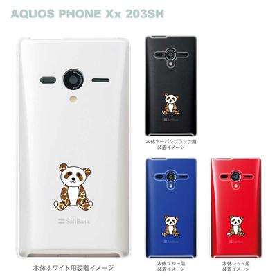 【AQUOS PHONEケース】【203SH】【Soft Bank】【カバー】【スマホケース】【クリアケース】【アニマル】【パンダ】 22-203sh-ca0026の画像