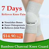 Bamboo Charcoal Knee Guard / All Day Knee Support / Breathable / Elastic /Compression / Prevent Re-injury / Knee Cap / Post-surgery