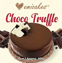 [Emicakes] Approx 600g – Choco Truffle 15cm available