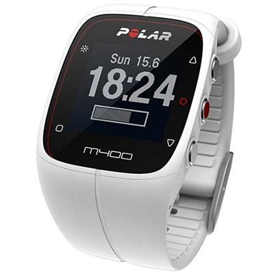 ◆即納◆ポラール(polar) M400 ホワイト (心拍センサーなし) 90051343 ホワイト 【ランニングウォッチ 腕時計 心拍計 活動量計 国内正規品】の画像