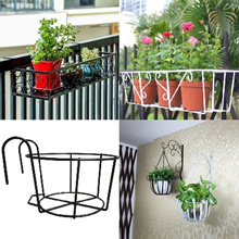 Flower Rack Parapet Balcony Corridor Railing Hanging Plant Pot Basket