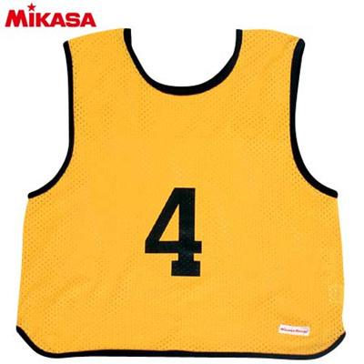 MIKASA(ミカサ) ゲームジャケット ソフトバレー用 レギュラーサイズ (1~15番) GJSV-Y 【ビブス ゲームベスト 試合 練習用品】の画像