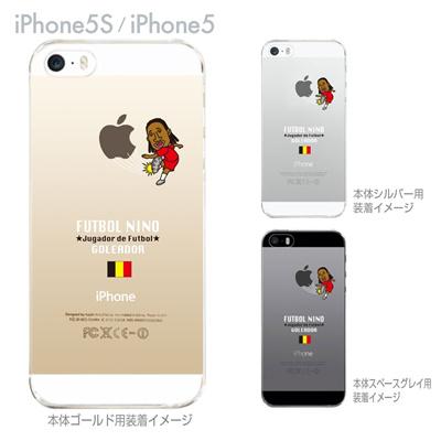 【ベルギー】【FUTBOL NINO】【iPhone5S】【iPhone5】【サッカー】【iPhone5ケース】【カバー】【スマホケース】【クリアケース】 10-ip5s-fca-bg02の画像
