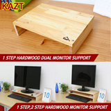 [KAZT STYLE LIVING]1 step Hardwood Dual Monitor Stand/1 step Hardwood Monitor Stand/2 step Hardwood Monitor Stand