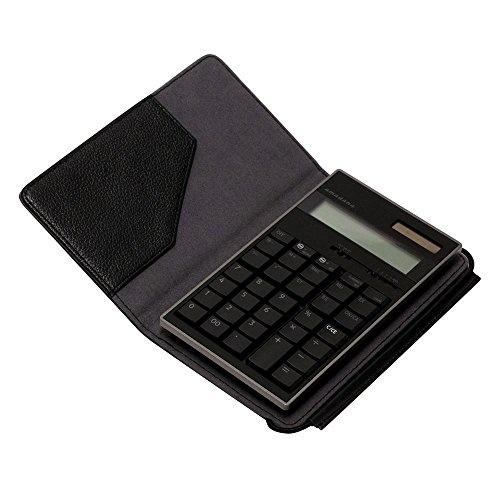 【クリックで詳細表示】amadana電子計算機レザーケースセット(ブラック)LCA-704-BK