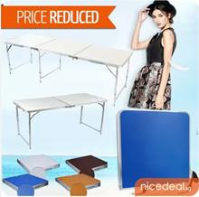 [New arrival stock] 240 x 60 / 180 x 60 / 120 x 60 / 70 x 50 Portable Foldable Aluminium Table