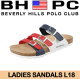 [BHPC] Beverly Hills Polo Club - Ladies Sandals L18. Available: RED. Guaranteed 100% Authentic Local Seller