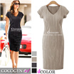 608 ★ Best New Product ★ [FREE Shipping] ★ Special Price ♥ Trendy items / High Quality / V neck / slim / Span / lovely / dress