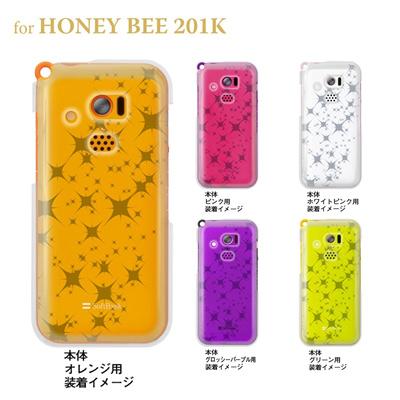 【HONEY BEE ケース】【201K】【Soft Bank】【カバー】【スマホケース】【クリアケース】【トランスペアレンツ】【スターダスト】 06-201k-ca0021tの画像