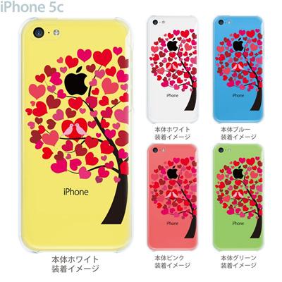 【iPhone5c】【iPhone5cケース】【iPhone5cカバー】【iPhone カバー】【クリア ケース】【スマホケース】【クリアケース】【イラスト】【フラワー】【ハート木】 22-ip5c-ca0091の画像