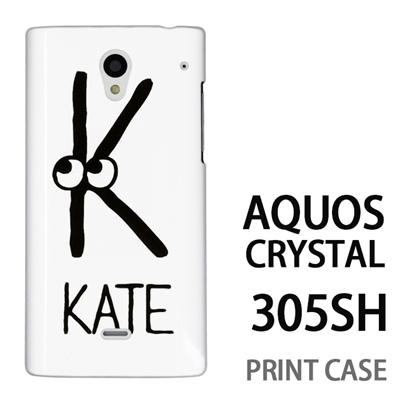 AQUOS CRYSTAL 305SH 用『0623 「K」』特殊印刷ケース【 aquos crystal 305sh アクオス クリスタル アクオスクリスタル softbank ケース プリント カバー スマホケース スマホカバー 】の画像