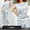 ★theplus★ stripe  Layered training set/ Korean / Korean Fashion / Plus Size