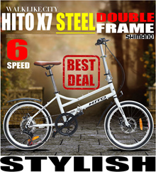HITO X7 Steel Double Frame Foldable Bike 6 speed