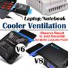 V6 V8 Laptop Notebook Cooler Ventilation/Ventilator Cooler Turbine Technology !!! COOLING PADS