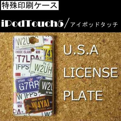 特殊印刷/iPodtouch5(第5世代)iPodtouch6(第6世代) 【アイポッドタッチ アイポッド ipod ハードケース カバー ケース】(USAプレート)CCC-021の画像