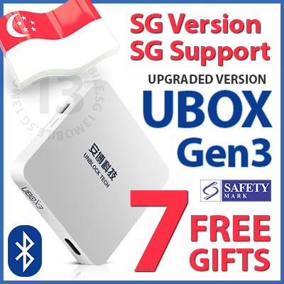 UBOX Unblock Tech TV Box S900 PRO BT Gen3+ Bluetooth SG Singapore Local Version 1000+ Free Channels Deals for only S$100 instead of S$0
