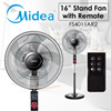 [Midea] CLEARANCE!!!16 inch Stand Fan FS40-11AR2 / Remote Control / LED Display Panel / 4 speed