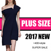 【2/24 update】500+ style 2017  NEW PLUS SIZE FASHION LADY DRESS dress blouse TOP pan