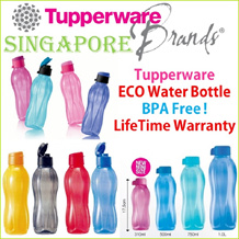 ★Authentic TupperWare★ Aquasafe Eco Fliptop Water Bottle * 310ml/500ml/750ml/1L * BPA Free * Lifetime Warranty * Corporate Gifts * Christmas * Valentines * CNY * Mug * Immediate Delivery