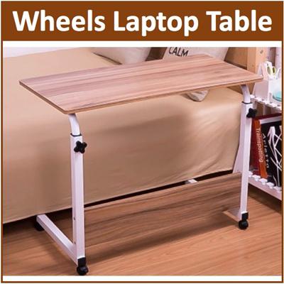 qoo10 bc wheel laptop table study portable bed desk pc. Black Bedroom Furniture Sets. Home Design Ideas