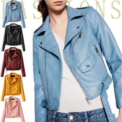 SS835人気のレザージャケットが秋になってリバイバル♪長袖 ライダースジャケット/ レディース PUレザーシャツ 秋 ジャケット フェイクレザー シャツジャケット