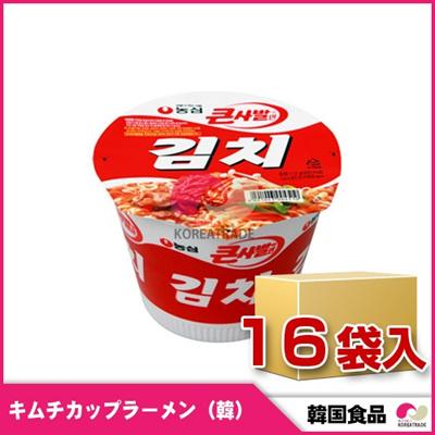 【新入荷!】【韓国食品▲キムチカップラーメン16個1BOX(1個=111円)】農心キムチ[112g x 16個1BOX]韓国のインスタントカップラーメンの画像