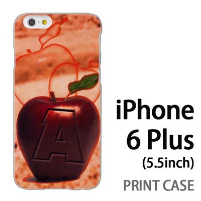 iPhone6 Plus (5.5インチ) 用『No1 A 赤りんご』特殊印刷ケース【 iphone6 plus iphone アイフォン アイフォン6 プラス au docomo softbank Apple ケース プリント カバー スマホケース スマホカバー 】の画像