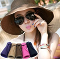 ●MAOMAO● Local Shipping Holiday Travel Sea beach Essential Sun block UV protect hat straw hat caps can be folded