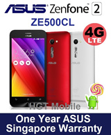 New Arrival! ASUS ZenFone 2 ZE500CL 4G LTE/16GB with 2GB RAM/Android 5.0 Lollipop/1 Year ASUS Singapore Warranty/Black White and Red Available!