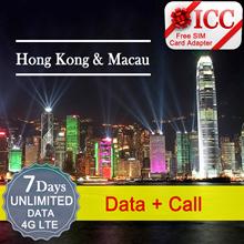 ◆ ICC◆【Hong Kong / Macau Sim Card · 2/3/4/7/8 Days】Unlimited data 4GLTE/3G+Call*❤ CSL❤CMHK❤3 ❤