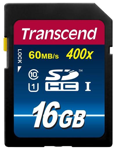 正規国内販売代理店・クロネコメルDM便送料無料・メカ永久保証メカサポト対応トランセンド[Transcend]16GBSDHCカドClass10UHSI400xPremiumTS16GSDU1P