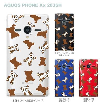 【AQUOS PHONEケース】【203SH】【Soft Bank】【カバー】【スマホケース】【クリアケース】【Clear Fashion】【アニマル】【パンダ】 22-203sh-ca0057の画像