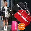 ⏰ 9.90! 💥FOLDABLE CABIN LUGGAGE💥[BEST PRICE EVER❗️] Good Quality! Many Designs Available! 2 Wheels Travel Suitcase / Luggage Bag / Cabin Size Trolley Luggage / Travel Organizer /